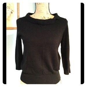 evie black bow sweater