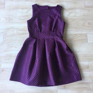 Closet Dresses & Skirts - Open Back Polka Dot Skater Dress