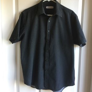 James Campbell Other - James Campbell black with white dot shirt Med. EUC