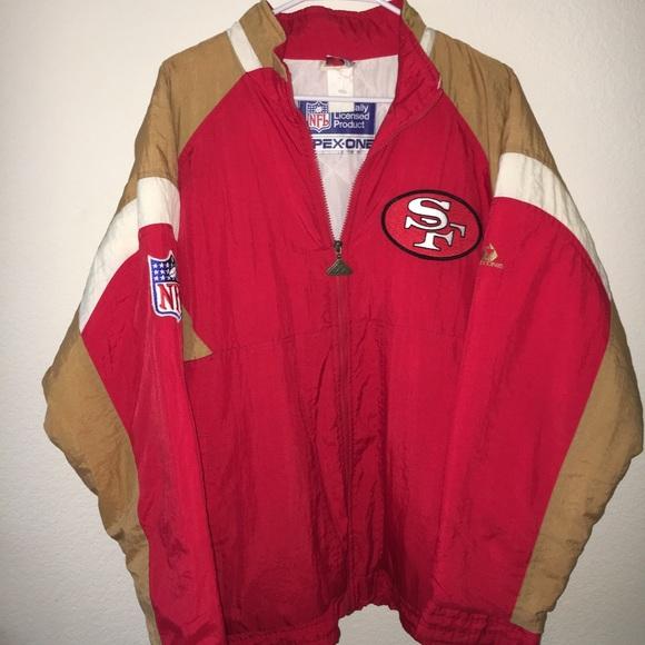 best service f8ff3 b0907 Rare Vintage Apex 1 San Francisco 49ers jacket