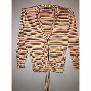 The Limited Striped Silk Cardigan Sz M