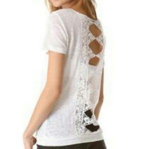 Nightcap Tops - 🎉SALE🎉 Nightcap White Lace Back t-shirt