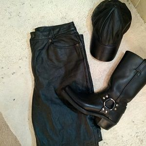 Gorgeous soft black leather pants