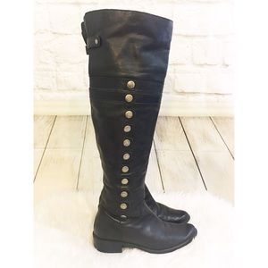 "matisse Shoes - Matisse ""jones"" over the knee silver stud boots"