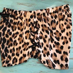 Tea n Cup Shorts - Leopard Shorts