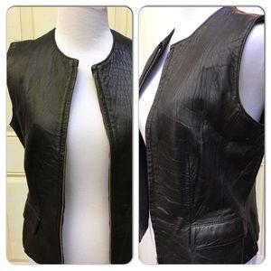 INC Leather Vest