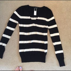 Black and white striped sweater
