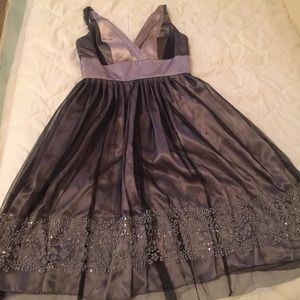 Nightway Dresses & Skirts - Sleeveless silver cocktail dress. Worn once.