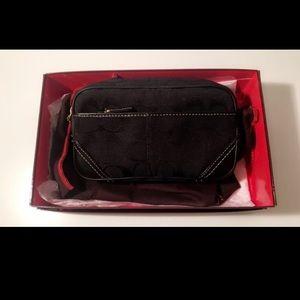 Authentic Coach  Black Fanny Bag