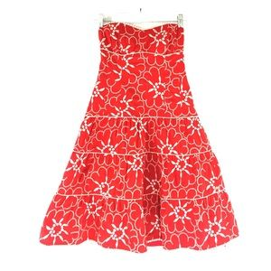 Nanette Lepore Dresses & Skirts - Nanette Lepore strapless red floral dress