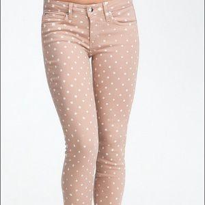 bebe Pants - Bebe polka dot skinny jeans