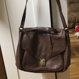 H&M faux leather messenger bag