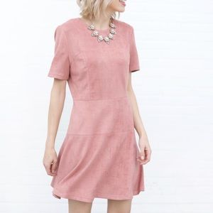 Dresses & Skirts - Ultra Suede A-Line Dress - Dusty Blush