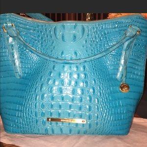 Brahmin Handbags - BRAHMIN TEAL BLUE TOTE/SHOULDER BAG-rare &a beauty