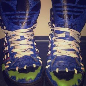 "Jeremy Scott x Adidas Shoes - Jeremy Scott Mad Logo ""Frankenstein"" Sneakers"