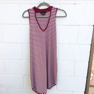 Poof! Other - NWT Girl's Red Stripe Dress with Mock Neck