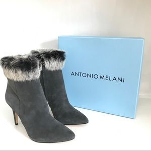 Antonio Melani Kylan Rabbit Fur Dress Booties