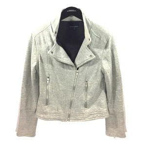Cynthia Rowley Sweaters - Cynthia Rowley cotton moto jacket sweater zip up