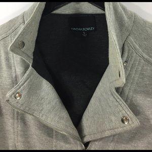 Cynthia Rowley Sweaters - Cynthia Rowley cotton moto jacket sweater zip up