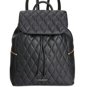 BRAND NEW Vera Bradley Quilted Leather Backpack