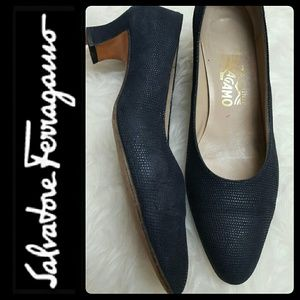 Ferragamo Shoes - Ferragamo Italy Leather Suede Pumps