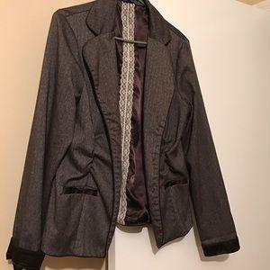Maurices brown woven blazer