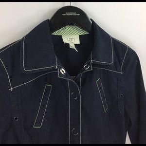 Ann Taylor Jackets & Coats - Navy nautical windbreaker boat jacket