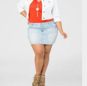 Plus size mini skirt