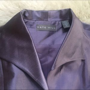 Kate Hill Tops - Kate Hill 100% silk wrap Blouse
