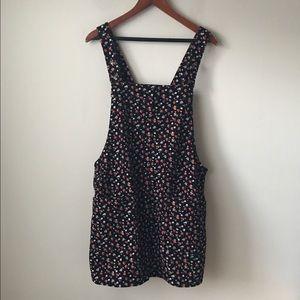 Xhilaration Dresses & Skirts - Xhilaration floral print corduroy overall skirt