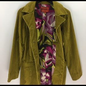Missoni Jackets & Coats - Green Marigold Missoni for target corduroy trench
