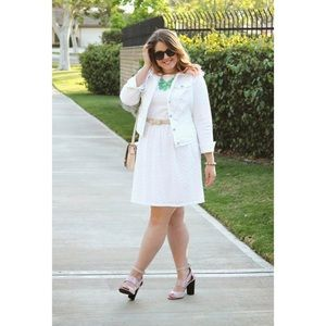 Ellen Tracy Dresses - White Eyelet Dress