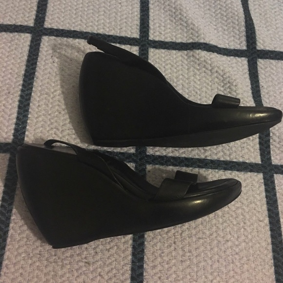 Prada Shoes - PRADA BLACK WEDGES SZ 37