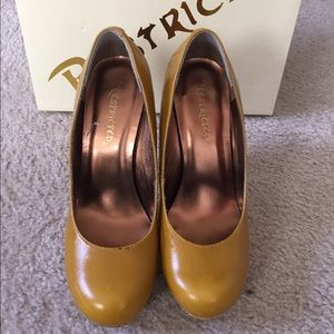 Restricted Shoes - Gently used mustard colored pumps