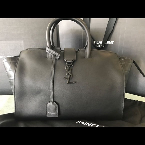 c0829382bb39 Saint Laurent Baby Monogram YSL Downtown Cabas Bag