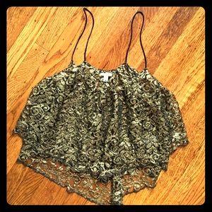 Ecote Tops - 💛Women's size medium fancy ecote gold lace top💛