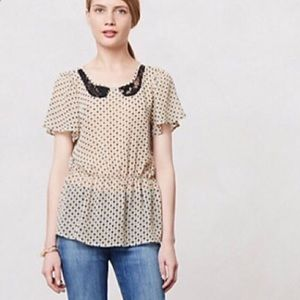 *BARELY WORN* Anthropologie Polka Dotted Blouse