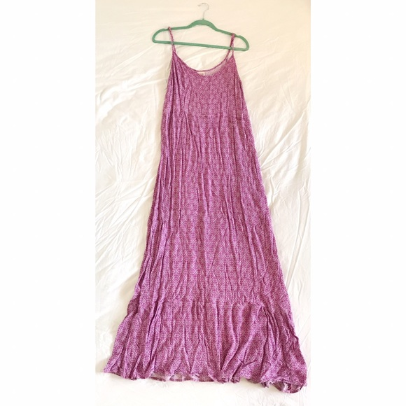 Mossimo Supply Co. Dresses - Pink/Purple Printed Maxi Dress