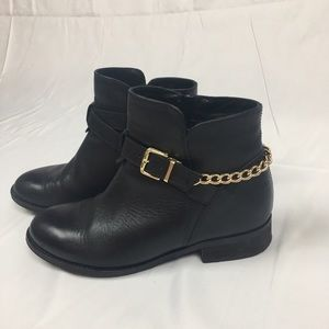 Steve Madden Black Leather Ankle Boots