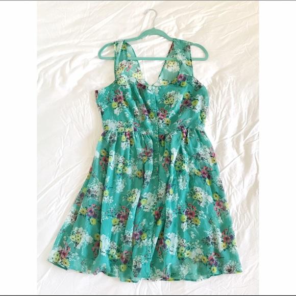 LC Lauren Conrad Dresses - LC Lauren Conrad Floral Dress