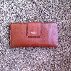 Fossil Handbags - Fossil Brown Leather Wallet