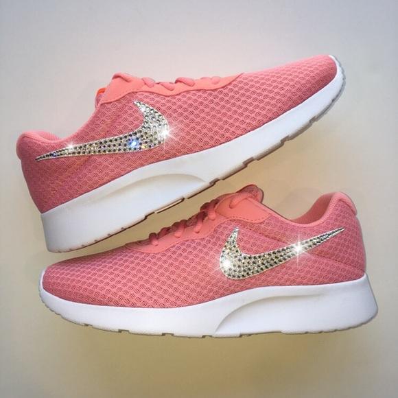 5f8b650da20029 Bling Nike Tanjun Shoes with Swarovski Crystals