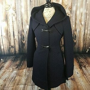 Jessica Simpson Jackets & Blazers - Fitted Navy Coat with Beautiful Quilted Detail