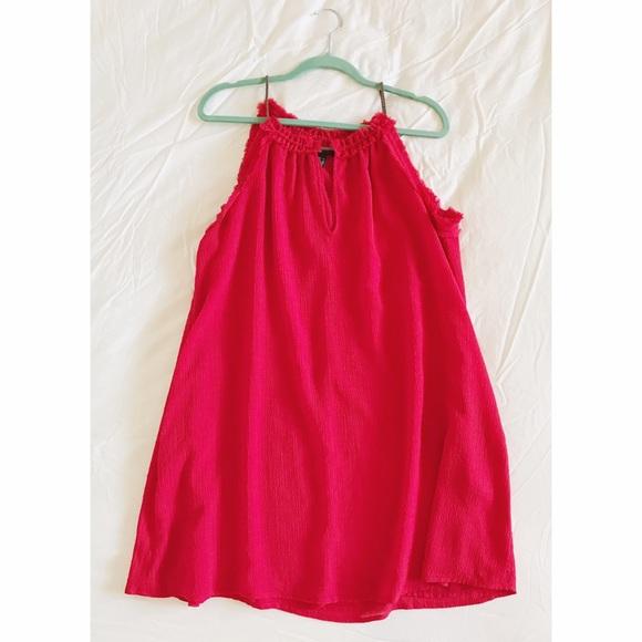 Mango Dresses - Red Shift Dress
