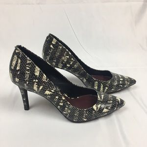 Jessica Simpson Shoes - Jessica Simpson Black and WhiteSnake Skin Pumps