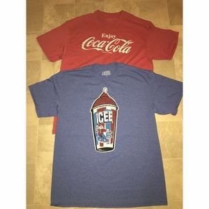 Other - Lot of Men's T-Shirts Icee and Coca Cola Sz L