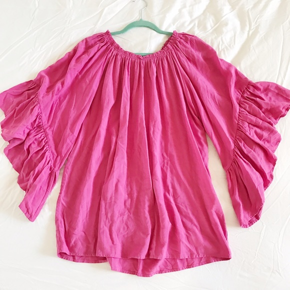 Altar'd State Tops - *HOLD* NWT Pink Off-the-Shoulder Bell Sleeve Top