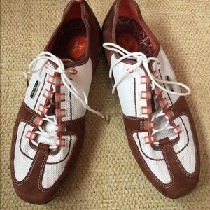 aetrex Shoes - Aetrex Women's Ellie Brown & White Sneakers