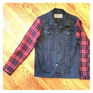 ambig Other - Men's size medium flannel and denim jacket