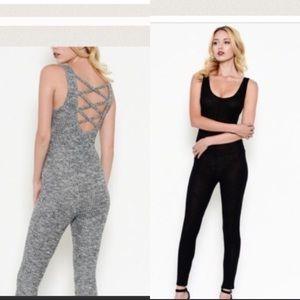 Pants - Lace Up Black Body Suit
